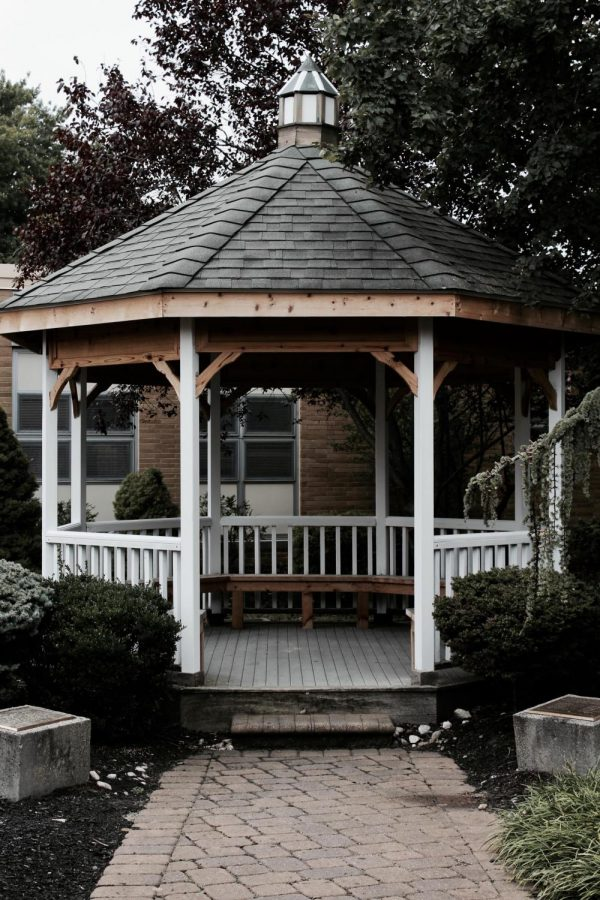 A field trip to the gazebo offers peaceful reflection