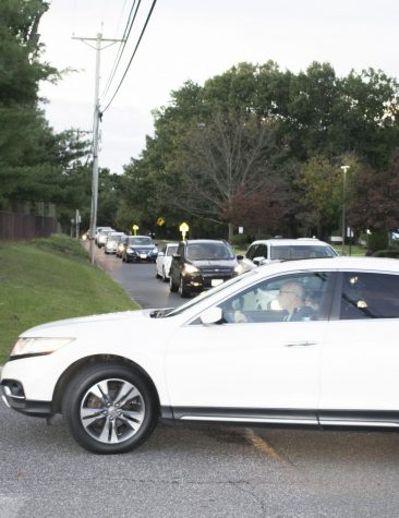 New parent drop-off location increases back lot traffic jams