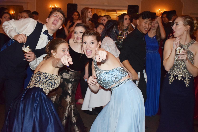 Last year's sophomores enjoy the cotillion.