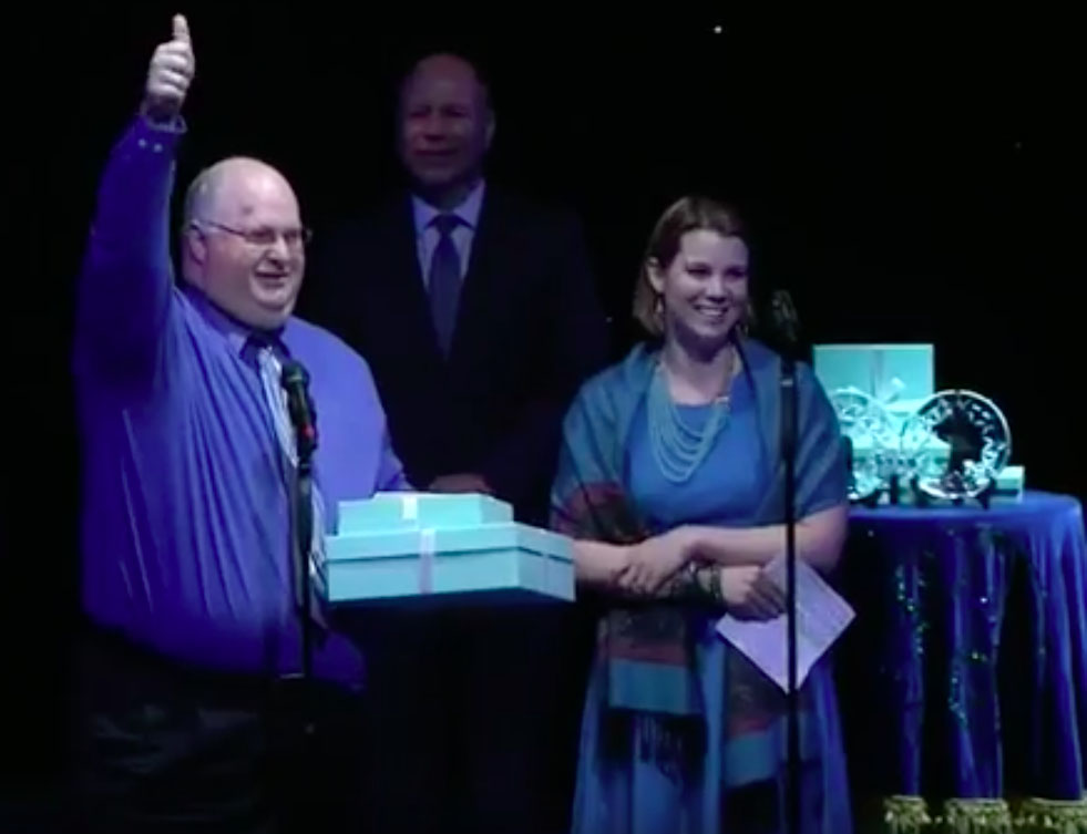 Dr. Molotsky receives a Papermill Award for Best Musical for