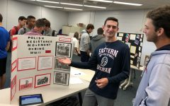 Holocaust and Genocide class presents projects at fair