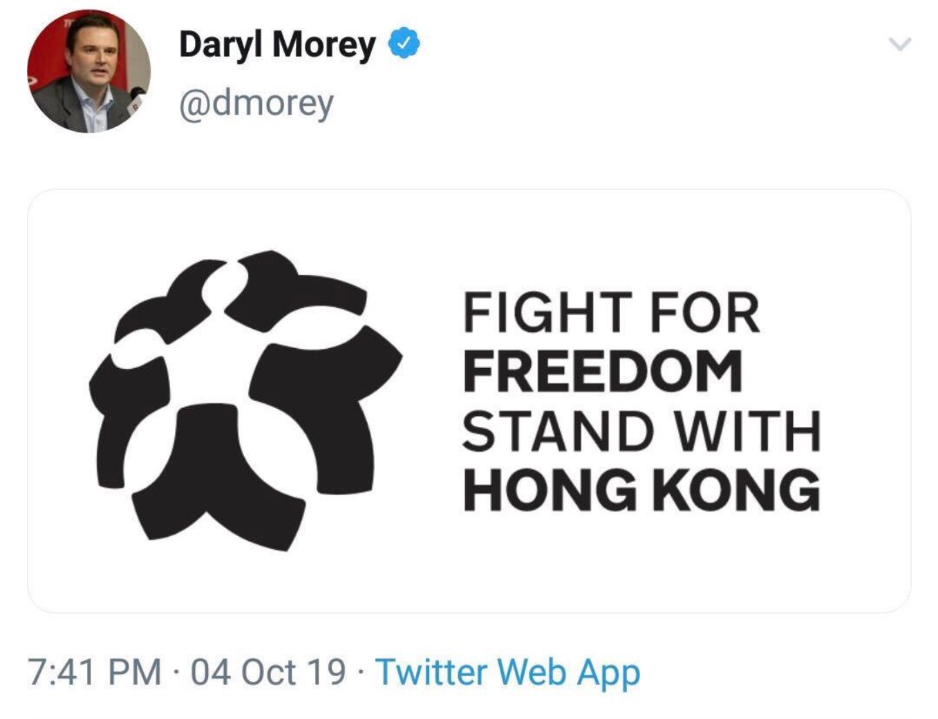 This tweet by Morey created an uproar.
