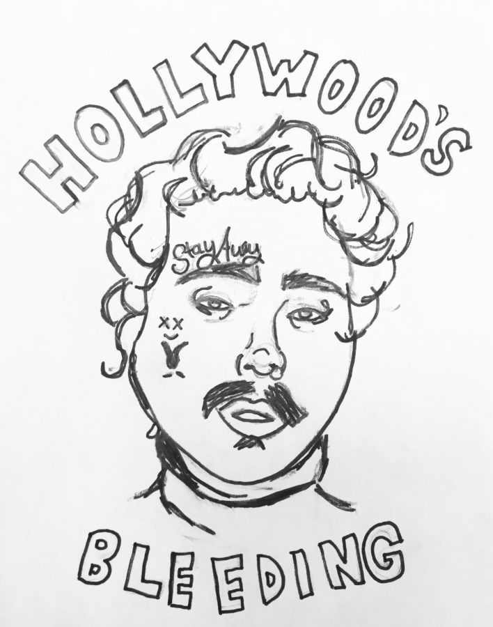 A+sketch+of+Post+Malone