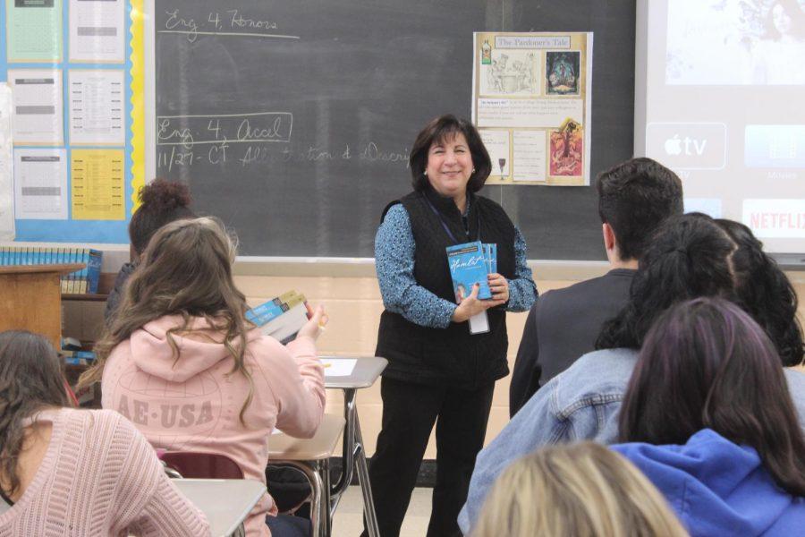 Mrs.+Brattstrom+teaches+her+class.+