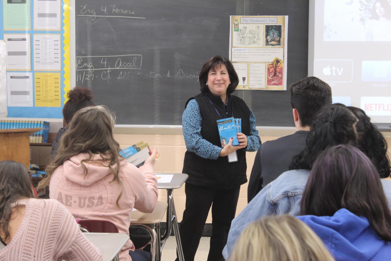 Mrs. Brattstrom teaches her class.