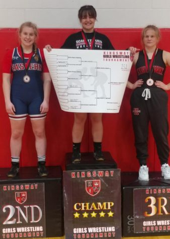 Junior Rachel Forsman won 2nd place at the Kingsway Girls Wrestling tournament.