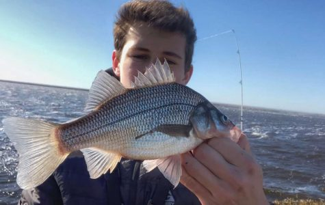 While others Tik Tok to fame, junior Dillon Lamon prefers to fish