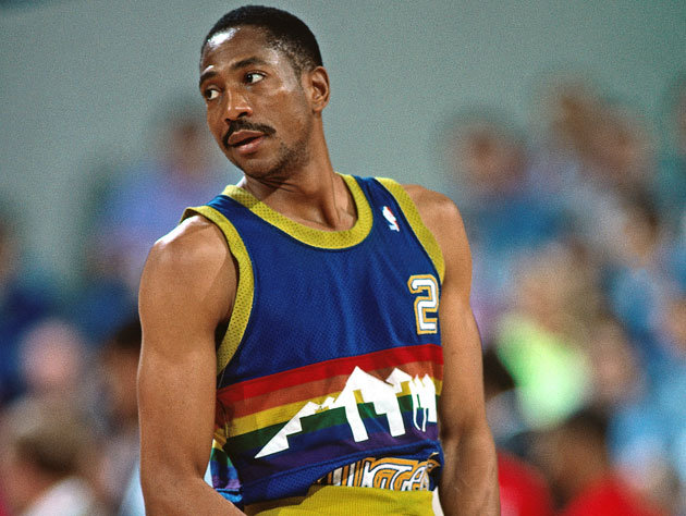Small forward Alex English was known as a prolific scorer throughout the 1980s.