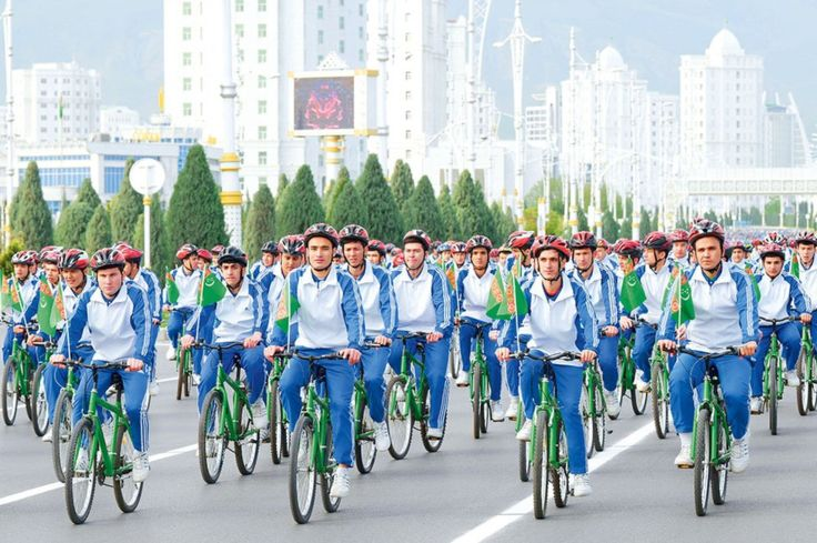 Earlier this month, Turkmenistan celebrated World Health Day with a mass bicycle rally, while the rest of the world continued to follow stay-at-home guidelines.