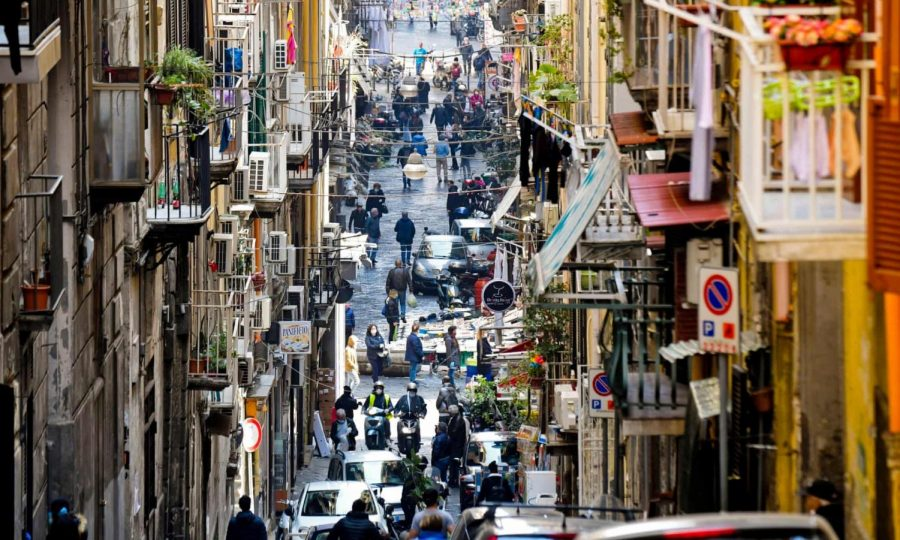 A bustling street in Naples earlier last month, where the Camorra clan has ramped up their activity in recent weeks.