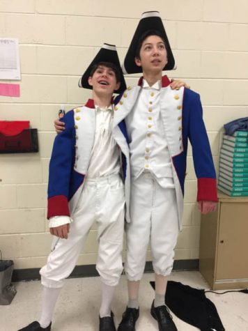 """Luke Magette findly remembers watching the barricade spin with the dead bodies on it for the first time during """"Les Mis"""" wet tech."""