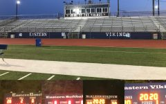 Eastern athletic fields lit up honoring the class of 2020.