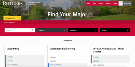Rutgers University has 157 majors. With any college, investigate and research and find out what may best suit your talents and interests.