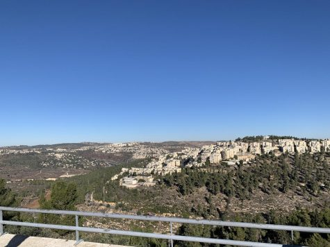 The view from Yad Vashem overlooking modern-day Jerusalem after you emerge from the Children's Memorial.