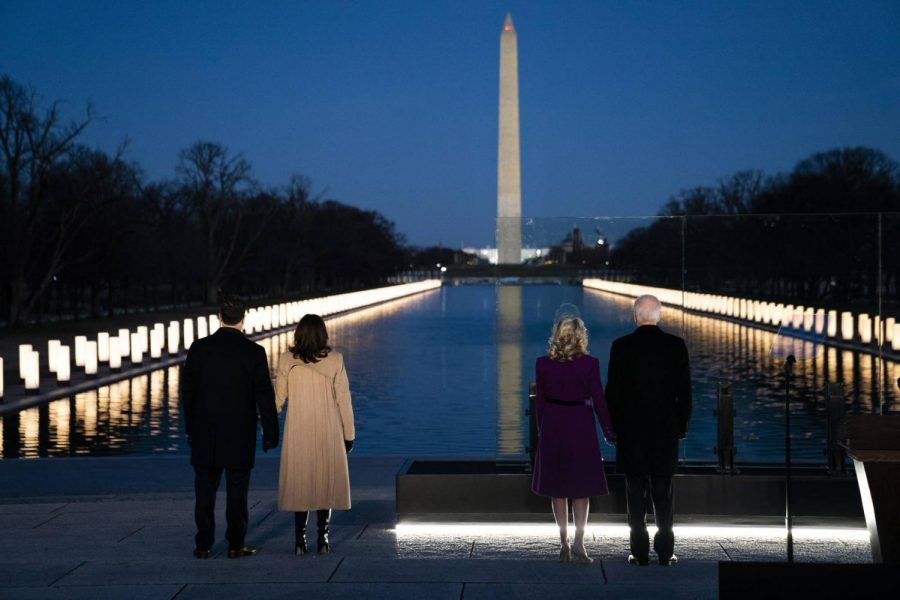President Biden and Vice President Harris, along with their spouses, First Lady Jill Biden and Second Gentleman Doug Emhoff, honor the victims of the COVID-19 pandemic.