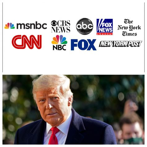 Mainstream media outlets and former President Donald Trump.