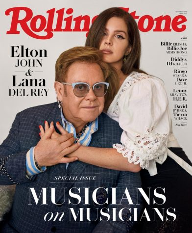 Many modern artists have collaborated with musical icons, such as Lana and Elton on the cover of Rolling Stones Magazine.