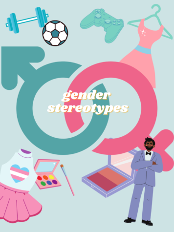 A graphic created on Canva.com displaying all of the stereotypes for both genders