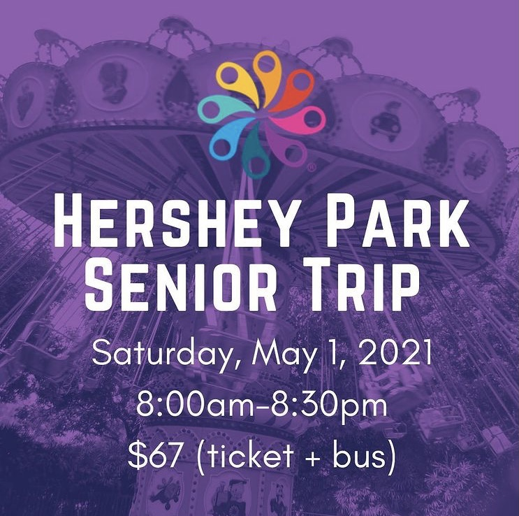 The EHS Class of 2021 Instagram sent out this post to Eastern seniors about the trip to Hershey Park.