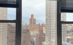 From twenty-one stories up, I can still feel the energy of New York City.