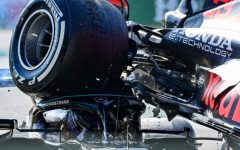 The defining image of the race will be this: Hamilton ducking to avoid Verstappens tyre.